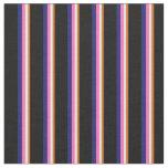 [ Thumbnail: Chocolate, Beige, Hot Pink, Midnight Blue & Black Fabric ]