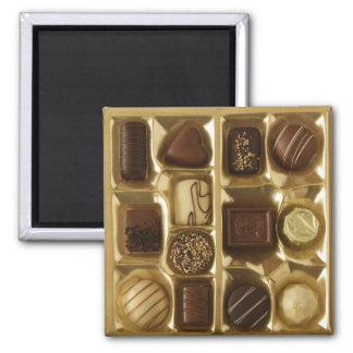 Chocolate belga imán cuadrado