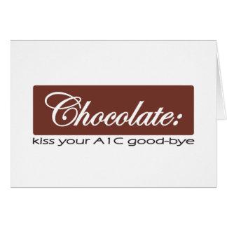 Chocolate: Bese su A1C adiós Tarjeta De Felicitación