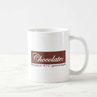 Chocolate: Bese su A1C adiós Taza Básica Blanca