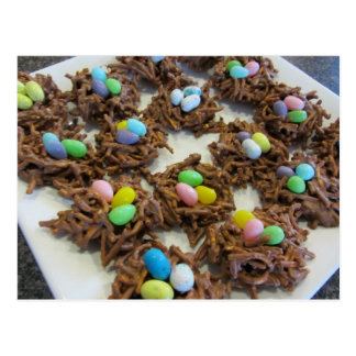 Chocolate Bird Nest Cookies Postcard