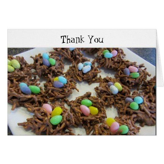 Chocolate Bird Nests Thank You Card