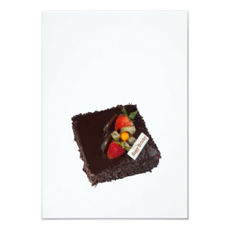 Chocolate birthday cake card
