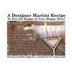 Martini Recipe Postcards Zazzle