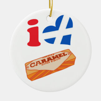 Chocolate Biscuit From Scotland Ceramic Ornament