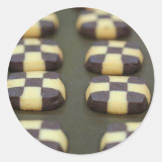 Chocolate biscuits classic round sticker