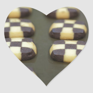 Chocolate biscuits heart sticker