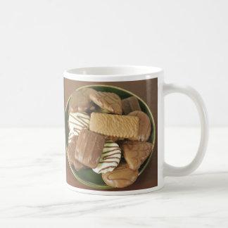 Chocolate biscuits coffee mug