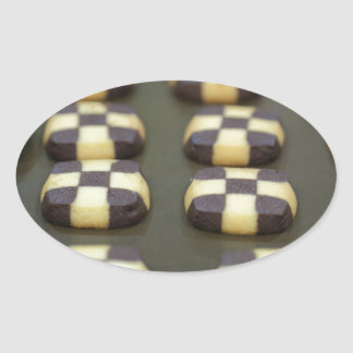 Chocolate biscuits oval sticker