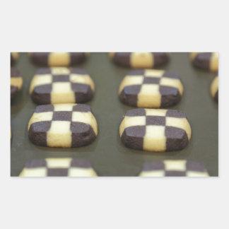 Chocolate biscuits rectangular sticker
