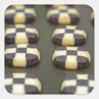 Chocolate biscuits square sticker