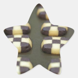Chocolate biscuits star sticker