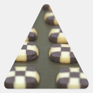 Chocolate biscuits triangle sticker