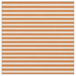 [ Thumbnail: Chocolate & Bisque Stripes/Lines Pattern Fabric ]