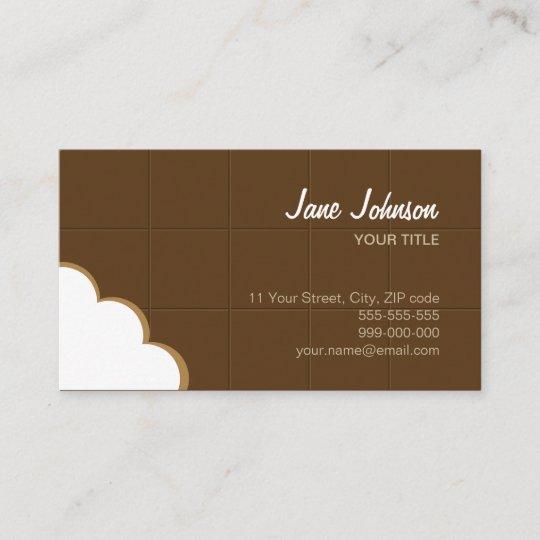 Chocolate bite funny creative business card zazzle chocolate bite funny creative business card colourmoves
