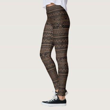 Aztec Themed (chocolate & black aztec) leggings