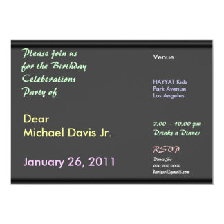 Chocolate Black Forest with Sample Text 5x7 Paper Invitation Card