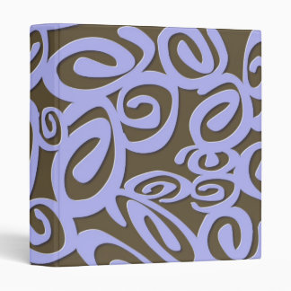 Chocolate Blue Swirls Binder