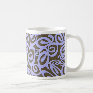 Chocolate Blue Swirls Mug