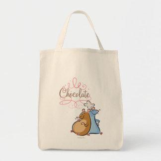 Chocolate Bolsa Tela Para La Compra