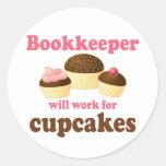 Chocolate Bookkeeper Occupation Gift Round Sticker