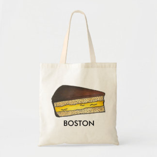 Chocolate Boston Cream Pie Slice Foodie Tote