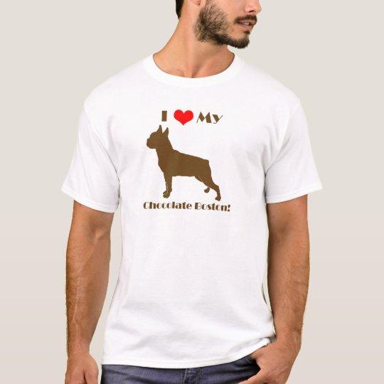 Chocolate Boston Terrier - Men's T T-Shirt
