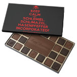 [Skull crossed bones] keep calm and schlemiel, schlimazel, hasenpfeffer incorporated!  Chocolate Box 45 Piece Box Of Chocolates