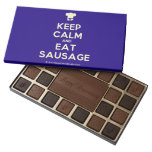 [Chef hat] keep calm and eat sausage  Chocolate Box 45 Piece Box Of Chocolates