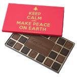 [Xmas tree] keep calm and make peace on earth  Chocolate Box 45 Piece Box Of Chocolates