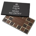 [Crown] keep calm and read no entry  Chocolate Box 45 Piece Box Of Chocolates