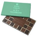 [Smile] keep calm and play trombone  Chocolate Box 45 Piece Box Of Chocolates