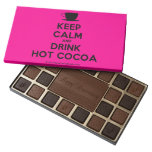 [Cup] keep calm and drink hot cocoa  Chocolate Box 45 Piece Box Of Chocolates