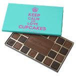 [Cupcake] keep calm and love cupcakes  Chocolate Box 45 Piece Box Of Chocolates