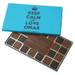 [Crown] keep calm and love omar  Chocolate Box 45 Piece Box Of Chocolates
