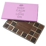 [Two hearts] keep calm and love on  Chocolate Box 45 Piece Box Of Chocolates
