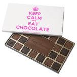 [Crown] keep calm and eat chocolate  Chocolate Box 45 Piece Box Of Chocolates