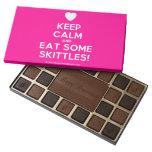 [Love heart] keep calm and eat some skittles!  Chocolate Box 45 Piece Box Of Chocolates