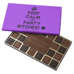 [Crown] keep calm and party bitches! [Love heart]  Chocolate Box 45 Piece Box Of Chocolates