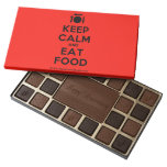 [Cutlery and plate] keep calm and eat food  Chocolate Box 45 Piece Box Of Chocolates