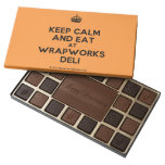 [Crown] keep calm and eat at wrapworks deli  Chocolate Box 45 Piece Box Of Chocolates