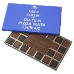 [Skull crossed bones] keep calm and du-te-n pizda matii chiriac  Chocolate Box 45 Piece Box Of Chocolates