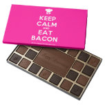 [Chef hat] keep calm and eat bacon  Chocolate Box 45 Piece Box Of Chocolates