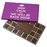 [Two hearts] keep calm and we will be back soon  Chocolate Box 45 Piece Box Of Chocolates