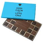 [Love heart] keep calm and love cma  Chocolate Box 45 Piece Box Of Chocolates
