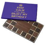 [Crown] keep calm y'all will enjoy my birthday  Chocolate Box 45 Piece Box Of Chocolates