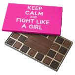 keep calm and fight like a girl  Chocolate Box 45 Piece Box Of Chocolates
