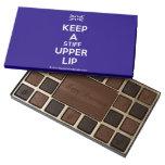 [UK Flag] keep a stiff upper lip  Chocolate Box 45 Piece Box Of Chocolates