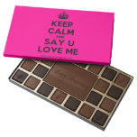 [Crown] keep calm and say u love me  Chocolate Box 45 Piece Box Of Chocolates