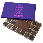 [Dancing crown] keep calm and love music  Chocolate Box 45 Piece Box Of Chocolates